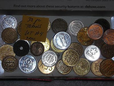 Vintage Lot Of 30 Token's Great Game,store,tax,business Advertising Token ,coin