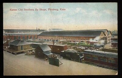 PITTSBURG KS Kansas c1908 Kansas City Southern Railway Shops