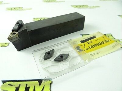 Carboloy Indexable Turning Tool Holder Mdjnr 20-4D + 2 New Ceramic Inserts