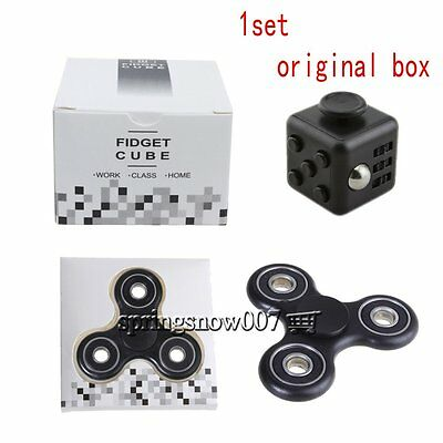 Magic Fidget Puzzle Cube Hand Spinner Anti-anxiety Adult Stress Relief Toy +Box