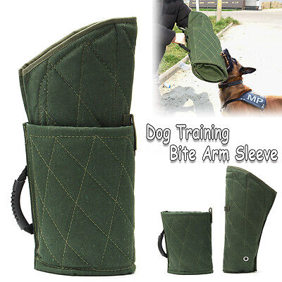 Durable Green Police Dog Training Bite Protection Arm Sleeve For Young Working
