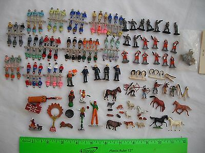 Lot of 144 Circus Clowns Horses Indians,Standing Sitting,Figures People,HO Scale