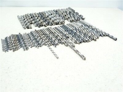 """78pC ASSORTED LOT OF HSS DRILLS 5/64"""" TO 1/2"""" DIA CLEVELAND MORSE NATIONAL C-L"""