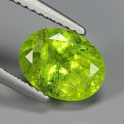 Glorious 2.20 Ct Natural Pakistan Greenish Yellow PERIDOT Oval Gemstone !!