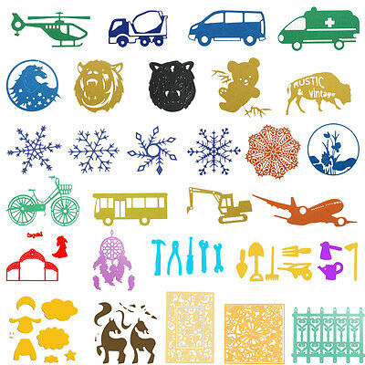 Animal Vehicle Cutting Die Stencil DIY Scrapbooking Photo Album Paper Card Craft