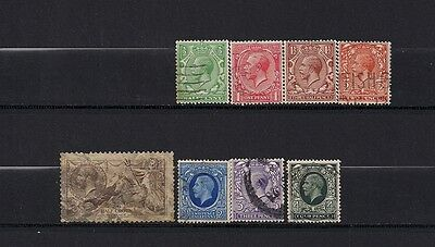 Great Britain lot of 8 early stamps. Great Value