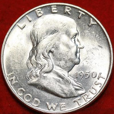 Uncirculated 1950-D Denver Mint Silver Franklin Half Free Shipping