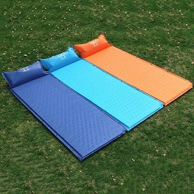 Newly Travel Air Bed Self-Inflating Mat Light Hiking Moistureproof Pad W/Pillow