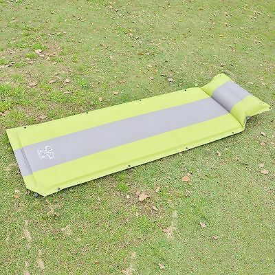Newly Camping Mat Self-Inflatable Travelling Pad Light Sleeping Air Bed W/Pillow