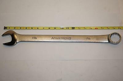 "New Armstrong USA 1-3/8"" 12pt Satin Chrome Long Combination Wrench $107 25-244"