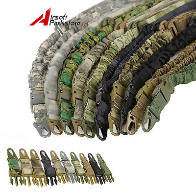 1X Tactical Military One 1 Single Point Adjustable Bungee Rifle Gun Sling Strap