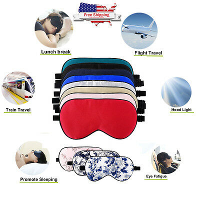 Travel Sleep Eye Mask Shade Sleeping Natural Silk Sleep Mask Adjustable Strap