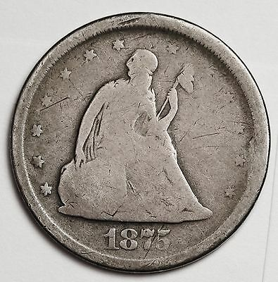 1875-s 20 Cent Piece.  Good.  107223