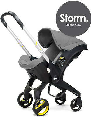 Doona Infant Baby Car Seat Travel Stroller Grey Storm FREE ALL DAY BAG NEW