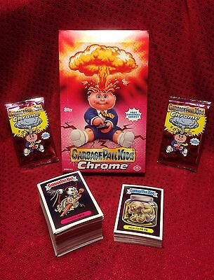 Garbage Pail Kids 2013 Chrome Series 1 Full Set of 110 Cards w/ Empty Hobby Box