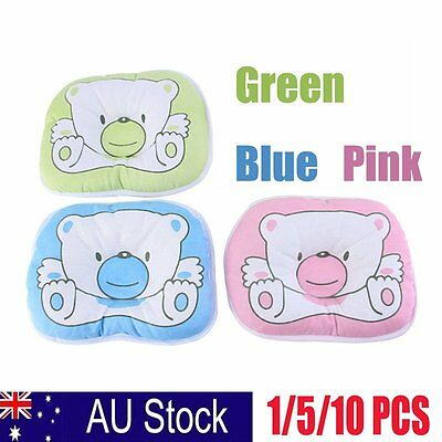 Bear Pattern Pillow Newborn Infant Baby Support Cushion Pad Prevent Flat Head K,