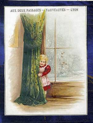chromo Deux Passages jeu cache-cache fillette Girl Game Hide-and-seek Trade card