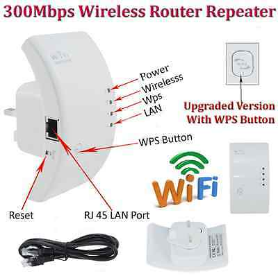 HotSale! 300Mbps Wireless AP Wifi Range Router Repeater Extender Booster AU PlK,