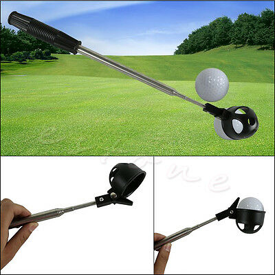 Hot Retractable 2M Golf Ball Retriever Stainless Steel Shaft Scoop Ball Pick Up