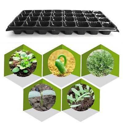 10 Pack 32 Cell Seedling Starter Trays Seed Germination Garden Plant Propagation