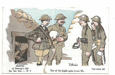 WW1 Leeds Soldiers 'Sketches of Tommy's Life' Card