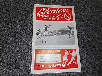 ABERDEEN  v  ST.MIRREN  1964/5  SCOTLAND  ~ AUGUST 19th  *****FREE POST*****