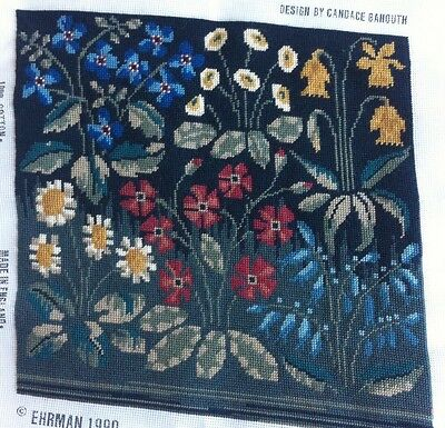 VINTAGE EHRMAN Lovely Floral Completed CUSHION COVER  ? Tapestry