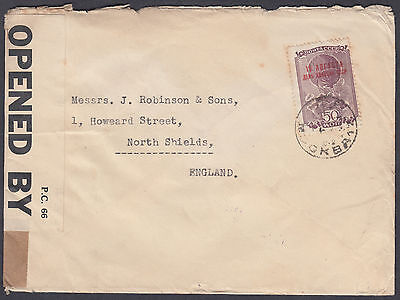 1939? Russia AVIATION DAY overprint, Cenon to Robinson & Sons, North Shields, UK