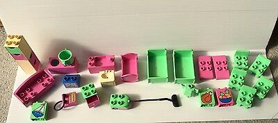 Lego Duplo Furniture Bundle From Dolls House Set TV Beds Chairs Kitchen Sofa Etc