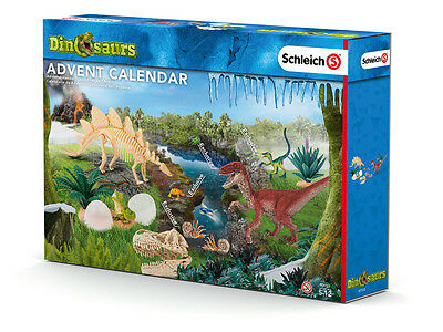 97152 SCHLEICH Dinosaurs Boys Advent Calendar 24 x Velociraptor Figure & Parts!