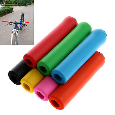 Fresh 1 Pair Silicone Anti-slip Handlebar Grips For Mountain Bicycle Cycling