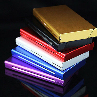 Hot Metal Aluminum Alloy Thin Cigarette Case Tobacco Holder Pocket Container Box