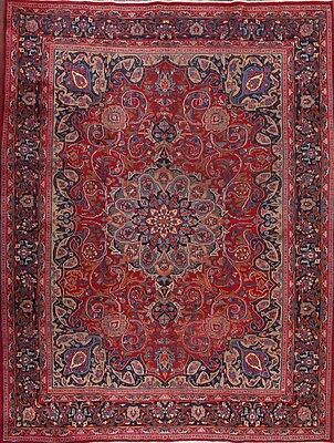 "Breathtaking Hand Knotted 10x13 Mashad Persian Oriental Area Rug 12' 6"" x 9' 8"""
