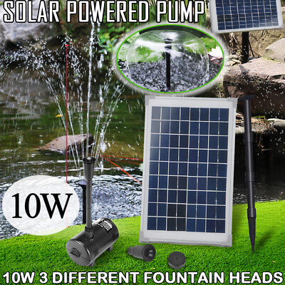 10W Solar Powered Panel Water Pump Fountain Kit Pool Garden Pond Submersible