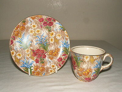 Royal Winton Grimwades Marguerite Chintz Coffee Cup & Saucer  Truly Stunning