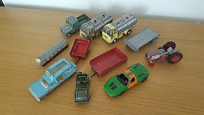 COLLECTION OF 11 VINTAGE CORGI & DINKY MODELS - 1960s