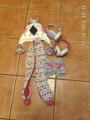 Hat, scarf and ear muffs age 3 - 5 yrs