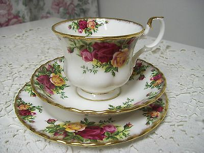 Royal Albert Old Country Roses Side  Plate, Cup, And Saucer