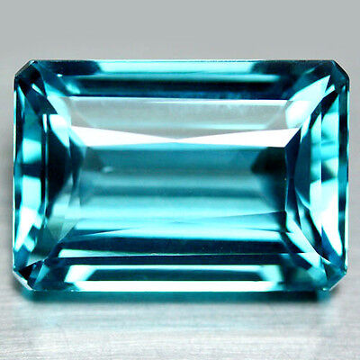 33.38 Ct Aaa! Aqua Blue Africa Quartz Octagon