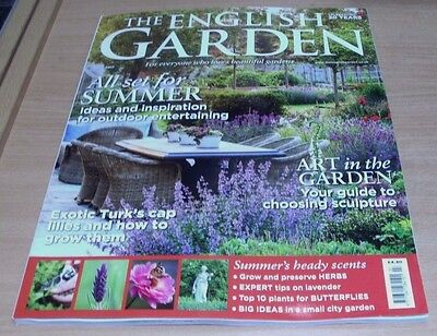 The English Garden magazine JUL 2017 Choosing Sculpture, Herbs, Lavender, Ideas