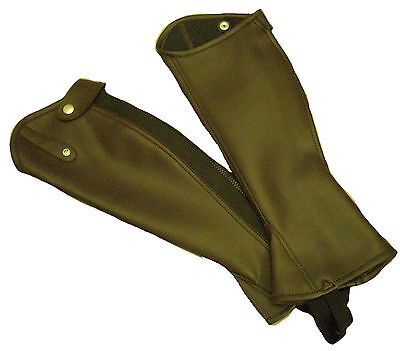 Eqvvs Adult Brown Leather Gaiters Available in XXS, XS and S