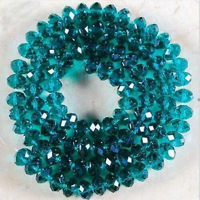 2017 4mm 148 pcs Faceted Rondelle Bicone Crystal Jewelry Beads peacock-green