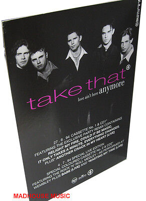 TAKE THAT DISPLAY Love Ain't Here Anymore UK COUNTERSTAND Rare UNUSED PROMO ONLY