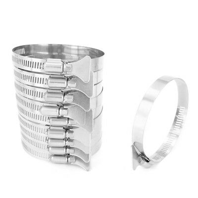 65mm-89mm Clamping Range 304 Stainless Steel Butterfly Hose Clamp 10pcs