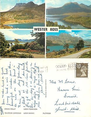 a1404 Wester Ross, Ross & Cromarty, Scotland postcard posted 1981 stamp