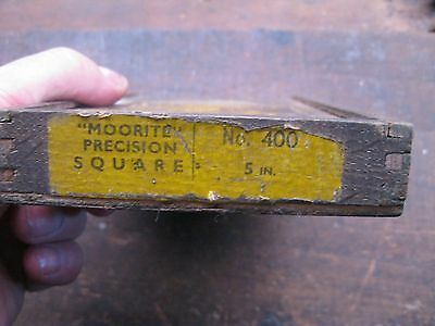 "Vintage Moore & Wright 5"" Precision Square Wooden Storage Box. Barn Find"