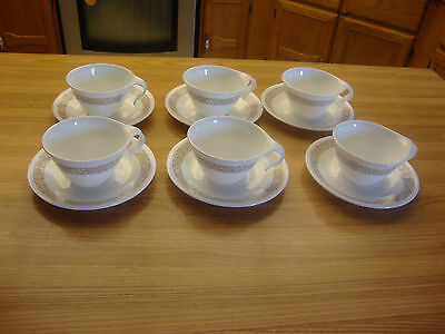 Corelle By Corning Ware 12 Pcs. Woodland Brown Cups & Saucer Made In U.s.a.