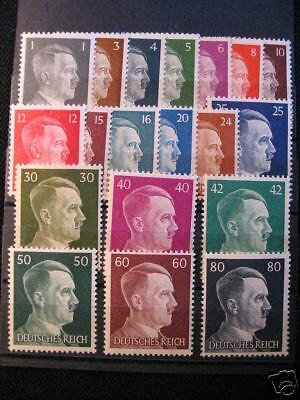 WWII  German FULL SET Adolf Hitler stamps 1941UNC.(1)