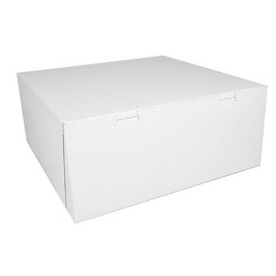 CPC B14145 14 x 14 x 5 in. White Clay-Coated Cake Box, Case of 50