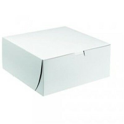 CPC B12125 12 x 12 x 5 in. White Clay-Coated Cake Box, Case of 100